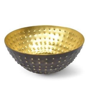 Kumi Bowl - Antique & Matte Brass
