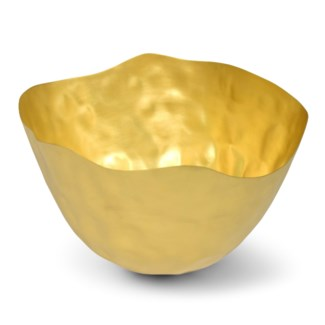 Dura Bowl - Hand Formed, Burnished & Matte Brass