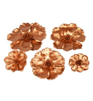 Yuki Decoration (Set of 5) - Golden Bronze