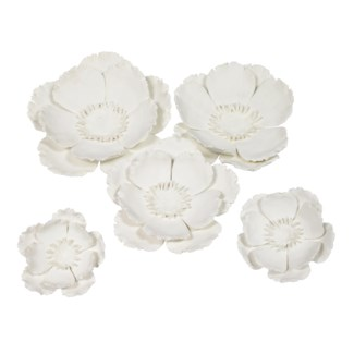 Yuki Wall Décor (Set of 5) - White