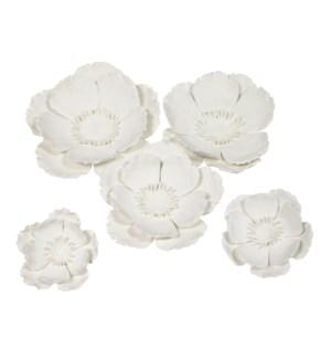 Yuki Wall Décor (Set of 5) - White