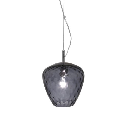 Hermione Pendant (Sm) - Nickel, Smoke Tuft Glass