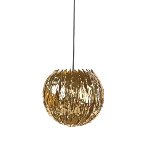 Abora Pendant (Lg) Round - Antique Brass
