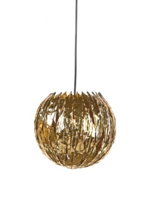 Abora Pendant (Sm) Round - Antique Brass
