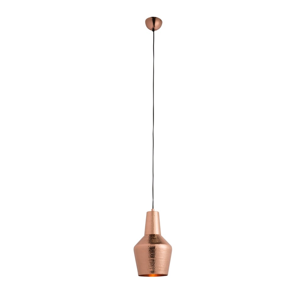 Nonna Pendant - Hammered Polished Copper