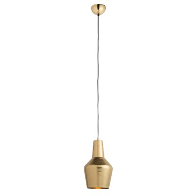 Nonna Pendant - Hammered Polished Brass