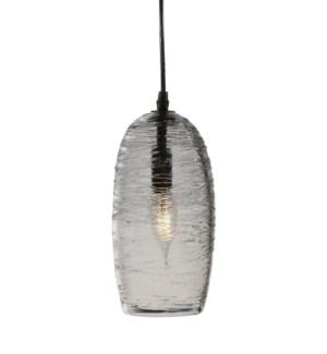 Dizzy Pendant - Nickel, Cast Glass