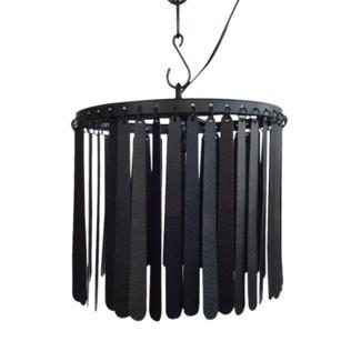 Dahlia Pendant (Round) - Black
