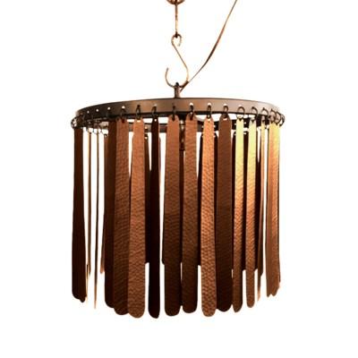 Dahlia Pendant (Round) - Copper