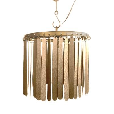 Dahlia Pendant (Round) - Brass