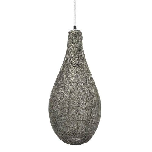 Mara Tall Pendant - Brushed Pewter