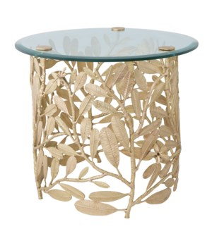 Asana Table - Polished Brass