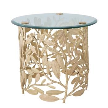 Asana Table - Polished Brass