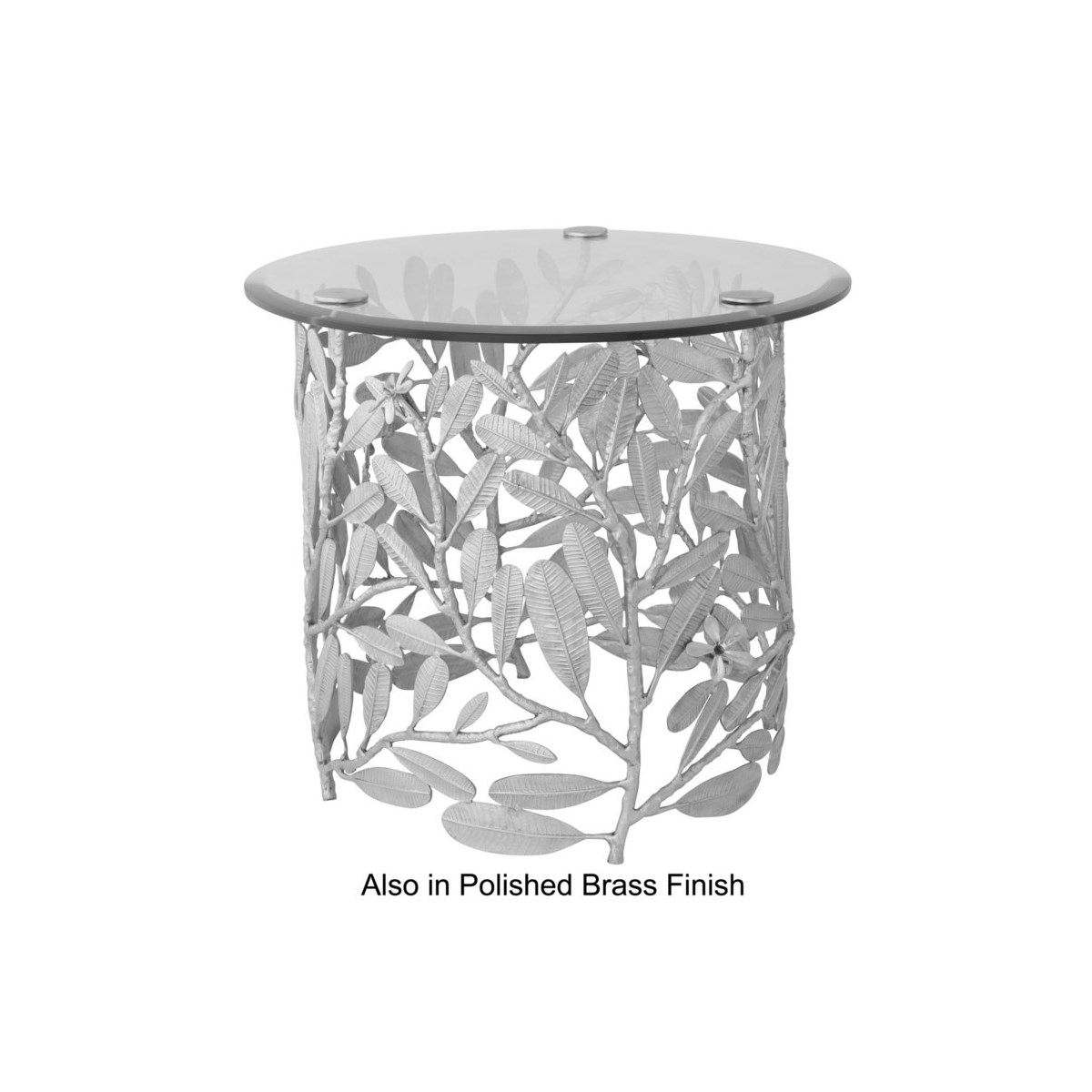 Asana Table - Burnished Brass