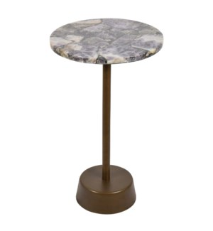 Estela Occasional Table - Amethyst Top, Rose Gold