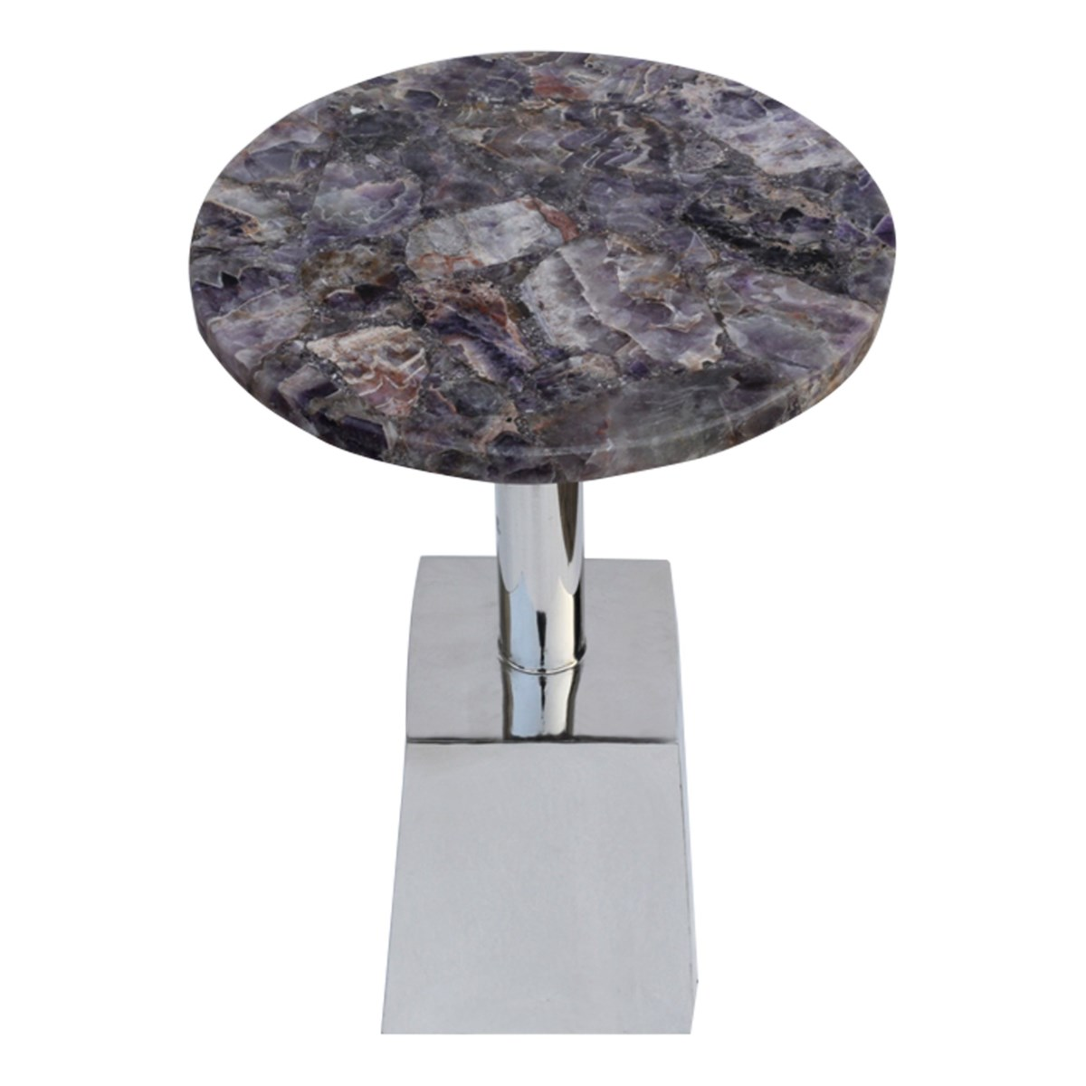 Billie Accent Table (Square) - Amethyst Top