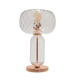 Hooray Henry Table Lamp - Copper, Cristale Tuft Glass