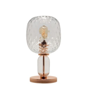 Hooray Harriet Table Lamp - Copper, Cristale Tuft Glass