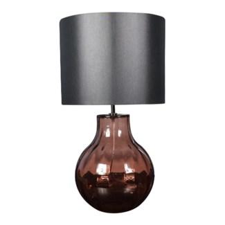 Augustus Table Lamp - Nickel, Marsala Lineo Glass