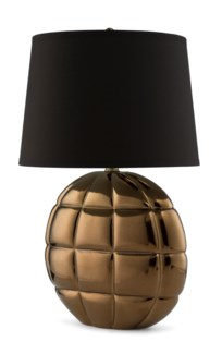 Poppy Lamp (Round) - Mirrored Smoke Bronze