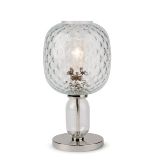 Hooray Harriet Table Lamp - Nickel, Cristale Tuft Glass