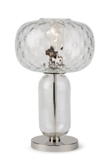 Hooray Henry Table Lamp - Nickel, Cristale Tuft Glass