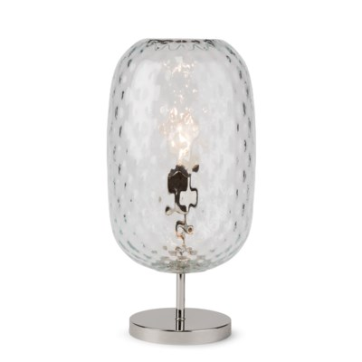 Charlotte Oval Table Lamp - Nickel, Cristale Tuft Glass