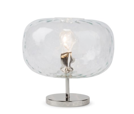 Charlotte Flat Table Lamp - Nickel, Cristale Tuft Glass