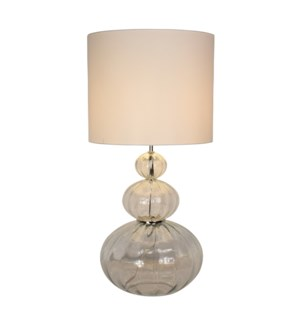 Maggie May Table Lamp - Oval Effect Lines, Transparent