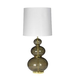 Maggie May Table Lamp - Vulkanic Glass, Smoke Brown
