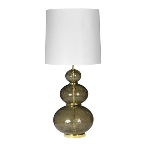 Maggie May Table Lamp - Vulkanic Glass, Smoke Brown