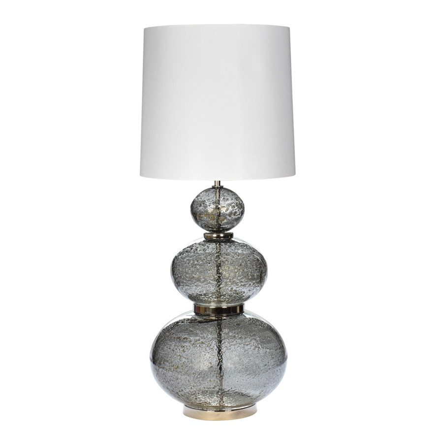 Maggie May Table Lamp - Vulkanic Glass, Smoke Grey
