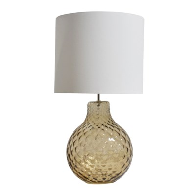 Augustus Table Lamp - Optic Diamond Effect in Smoke Brown