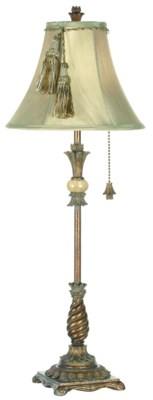 ONYX SPLENDOR CANDLESTICK LAMP (87-491-2B)