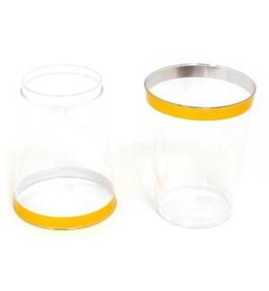 24pc Gold Rim Disposable 10oz Cups