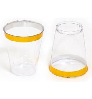 36pc Gold Rim Disposable 2oz Shot Glass
