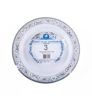 Disposable Bowl Silver 7.5in 3PK
