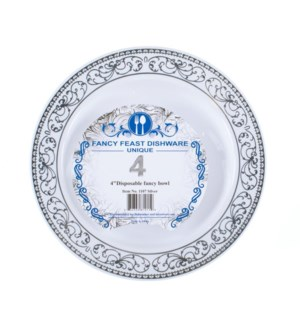 Disposable Bowl Silver 5.5in 4PK