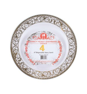 Disposable Bowl Gold 5.5in 4PK