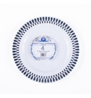 Disposable Dinner Plate Silver 10in 4PK.