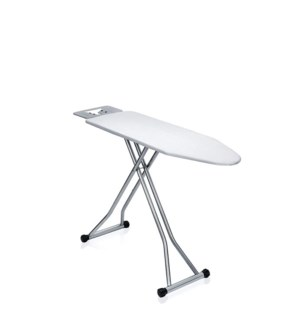 Ironing Board Heavy Duty 15in by 48in 56in including iron Rest Adjustable Height Mix Designs