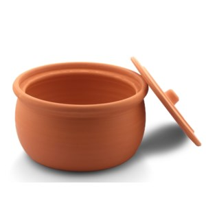 Clay Casserole with Lid, big size, natural 28x14cm
