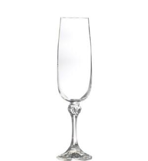 Julia - Bohemia Champagne Glass w/Stem 6pc Set