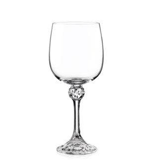Julia - Bohemia Wine Glass w/Stem 6pc Set