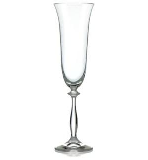 Angela - Bohemia Champagne Glass w/Stem 6pc Set  190ml