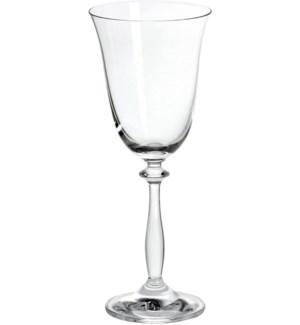 Angela - Bohemia Wine Glass w/Stem 6pc Set 250ml