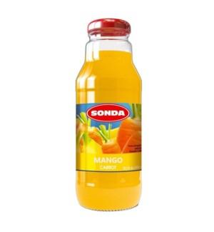 Sonda Mango & Carrot 30% Juice 300ml - 10oz - Made in Poland