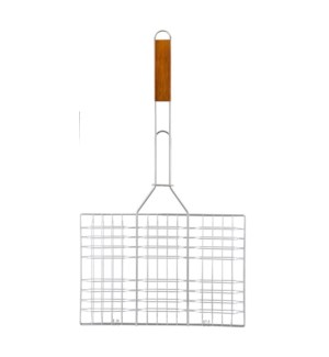 Grill Square Flat Wooden Handle 20.5inch