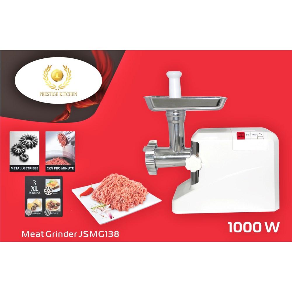 Meat Grinder 1800W  ETL Copper Motor - 3pc S/S Blade - Sausage/Kebbe