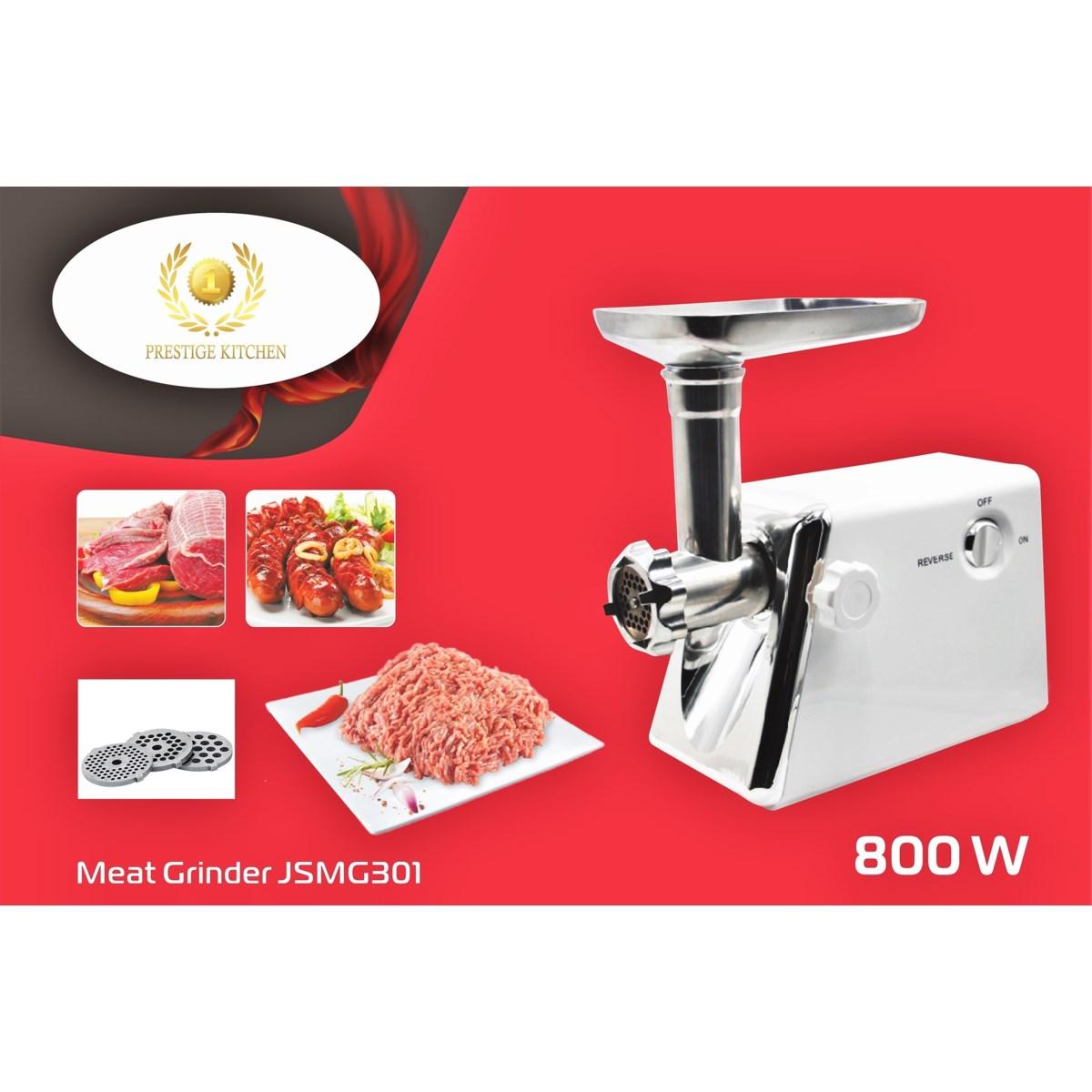 Meat Grinder 800W (Max Lock 1200W) - ETL Copper Motor - 3pc S/S Blade - Sausage/Kebbe